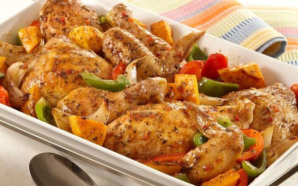 طريقة عمل صينية الدجاج بالخضروات
