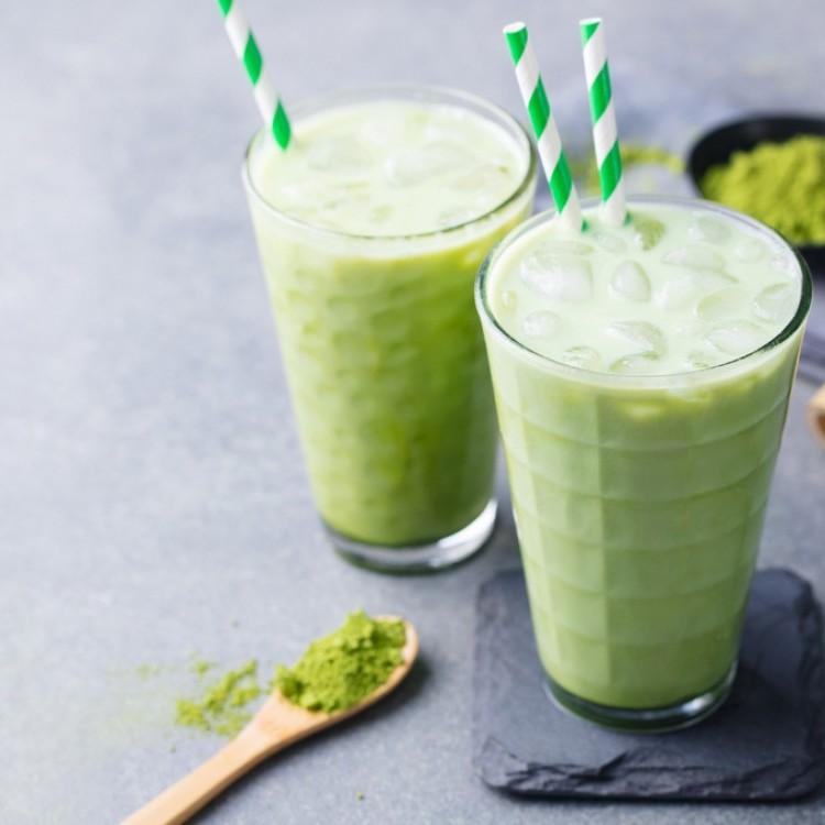 طريقة عمل سموثي الشاي الأخضر